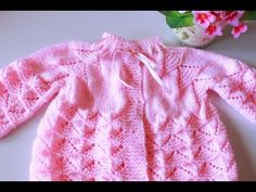 YouTube Baby Knitting Patterns, Baby Girl Crochet, Knitting Videos, Crochet Cardigan, Baby Sweaters, Baby Wearing, Baby Dress, Free Crochet, Clothes