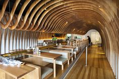 Feature Ceiling | Key-Ply custom ceiling | Sushi Train/Cave Restaurant, Maroubra | New South Wales
