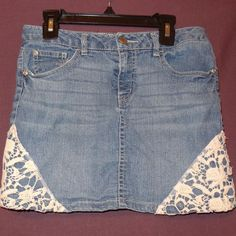 Jean Skirt Denim Lace Size 14 Route 66 Blue White Girls    Clothing, Shoes & Accessories, Kids' Clothing, Shoes & Accs, Girls' Clothing (Sizes 4 & Up)   eBay!
