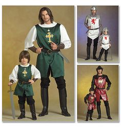McCall's Costume Pattern:M5500.  Printable Pattern Available.  Men's/Children's/ Boys' Knight, Prince and Samurai Costumes. Difficulty: ?. Size MEN (SM- Xlg)