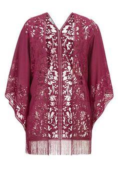 lacy pink kimono wit