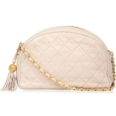 Chanel Vintage Pale Pink Quilted Leather Bag