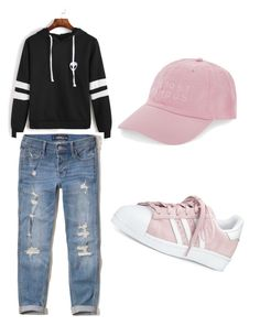 """Untitled #49"" by amela-besic ❤ liked on Polyvore featuring Hollister Co., adidas and Nasaseasons"