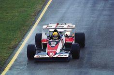 Ayrton Senna and his first F1 car. The Toleman TG183B