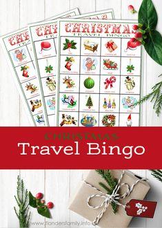 Christmas Travel Bingo Cards Christmas Bingo Cards, Printable Christmas Games, Fun Christmas Activities, Craft Activities For Kids, Xmas Cards, Kids Crafts, Craft Ideas, Homemade Christmas Gifts, Diy Christmas Ornaments