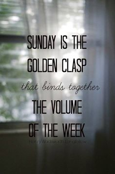#Sunday - Enjoy it to the fullest! #yourtime