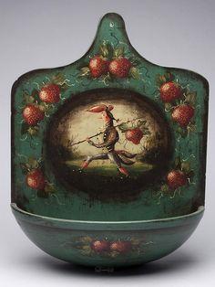 artist peter ompir | peter ompir 1904 1979 folk art painted wall board bowl