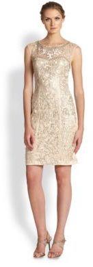 Sue Wong Embellished Illusion Dress