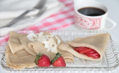 Cassava flour crepes, with interesting information about baking with cassava flour.