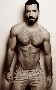 Bearded, awesome physique, great lines...