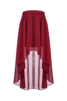 Garnet high low skirt