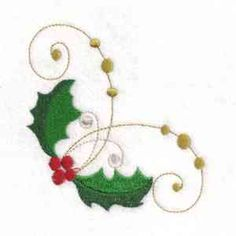 """This free embroidery design is """"Holly"""". Just perfect for the holidays!"""