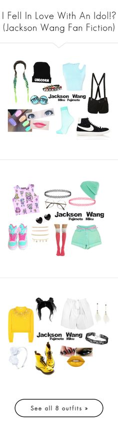 """""""I Fell In Love With An Idol!? (Jackson Wang Fan Fiction)"""" by maddie-213 on Polyvore featuring mode, Abbey Dawn, Thierry Mugler, Hot Topic, Topshop, NIKE, Miss Selfridge, ZeroUV, Charlotte Russe en River Island"""