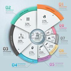 Moderne entreprise Infographies cercle de style origami Banque d'images - 22121399