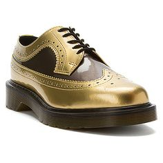 Dr Martens 3989 Brogue Spectra Shoe Gold/Pewter Spectra Patent