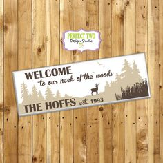 neck of the woods sign  family name sign  by Perfect2DesignStudio
