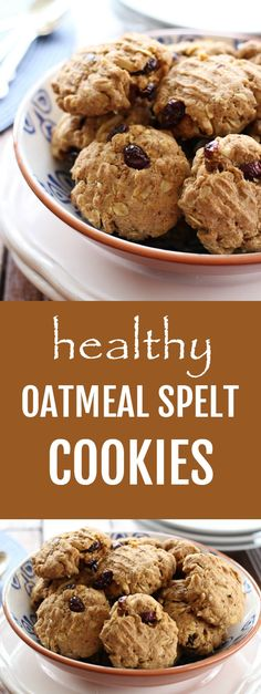 These oatmeal spelt cookies are not too sweet and are perfect even as a snack. Easy to make too.