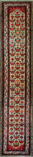 "A Bakhtiri Runner   Size:  3'1"" x 16'6"" - 94cm x 503cm Origin: Southwest PersiaPeriod:  C 1910"