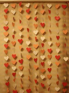 Faça você mesmo - Cortina de coração | Chicas Festas | Elo7