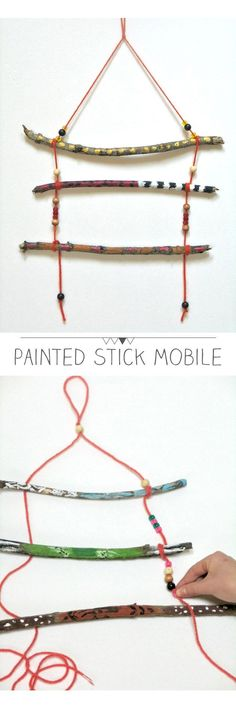A lovely craft that puts all of the cool sticks we find on our nature expeditions to good use!