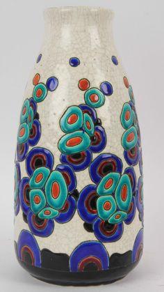 Boch Freres Keramis ART Deco Modernist Vase by Charles CATTEAU, Pattern D946 | eBay