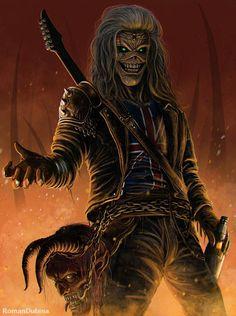Eddie The Head Vs Lobo Battles Comic Vine, Iron Maiden Eddie Art Gallery - Staircase Hard Rock, Heavy Metal Art, Heavy Metal Bands, Rock Posters, Band Posters, Pop Rock, Rock And Roll, Iron Maiden Mascot, Iron Maiden Posters