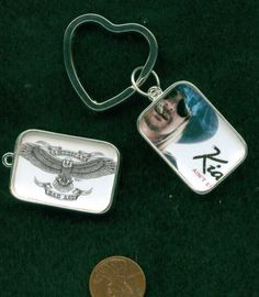 Two Sided Kid Rock Heart Shaped Key Ring $12.  Free matching gift box.  This can be personalized with your own photos, contact me and I will tell you how.