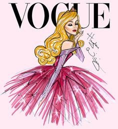 Disney Divas for Vogue by Hayden Williams: Aurora