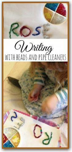 Writing with beads and pipe cleaners