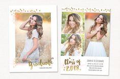 Graduation Card IvitationTemplate ~ Card Templates ~ Creative Market