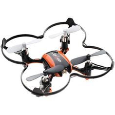 The Cobra RC Toys 2.4GHz Micro Drone-Copter comes with a frame and can be flown headless as well. LED lights help you track its progress. This Drone-Copter is for indoor and outdoor use and should be