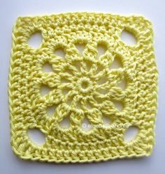 another crochet square | tutorial at about crochet.
