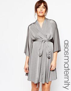 Image 1 ofASOS Maternity Kimono Soft Skater Dress