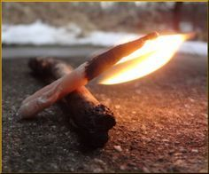 A guide to how to make self-igniting fire starters - such a cool idea, they're waterproof and can be made from really easy materials!