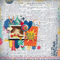 School Scrapbook Layouts, Wild Child, Scrapbook Paper Crafts, Digital Scrapbooking, Amanda, Joy, Gallery, Children, Sweet