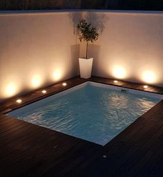 Piscina Swim-Spa Piscine et Jacuzzi Pools For Small Yards, Small Swimming Pools, Small Backyard Pools, Backyard Pool Designs, Swimming Pools Backyard, Swimming Pool Designs, Pool Landscaping, Backyard Patio, Pool Spa