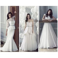 Three incredible @carolinecastigliano gowns. Tell us 1, 2 or 3 for you? #CarolineCastigliano #choices #weddingdress #bridalgown #weddinggown #dreamdress #dreamday #weddinggoals #goals #nybridalmarket #bridalmarket #bridalstyle #weddingfashion #weddingday