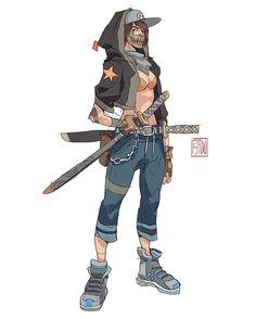 Adding some colors ✍#samurai #underground #digitalart #sketchoftheday #pyroow #sukeban #girl #katana #punk #urban #gang