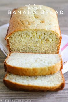 The best banana bread ever! It's simple and easy, perfectly flavored, super moist, and delicious!
