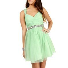 Hailey Logan Lizbeth-Sage Prom Dress ($120) ❤ liked on Polyvore