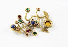 Patricia Locke Modernist Rhinestone Brooch Jewel by estatechicago, $64.00