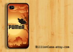 Pumba Porady Movie Lion King Africa -  iPhone 5 4 / 4s Galaxy Case Hard Plastic Case Rubber Case. $15.99, via Etsy.