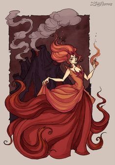Flame Princess by IrenHorrors on DeviantArt Gothic Drawings, Cool Drawings, Time Cartoon, Cartoon Art, Adventure Time Princesses, Redhead Art, Gothic Fantasy Art, Flame Princess, Witch Art
