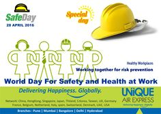 Safety requires Team Work, Be Part of Our Team. World Day For Safety and Health at Work. #Safety #Health