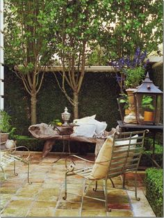 Adore the Saltillo tile on this patio...Reminds me of the home I grew up in.  :)