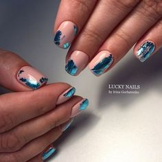 Modern Nail Art Designs that Are Too Cute to Resist Trendy Nail Art, Stylish Nails, Modern Nails, Foil Nails, Gel Manicure, Manicure Ideas, Nails Inspiration, Beauty Nails, Cute Nails