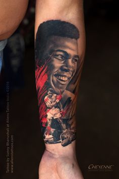 Muhammad Ali Tattoo by Sunny Bhanushali at Aliens Tattoo India.