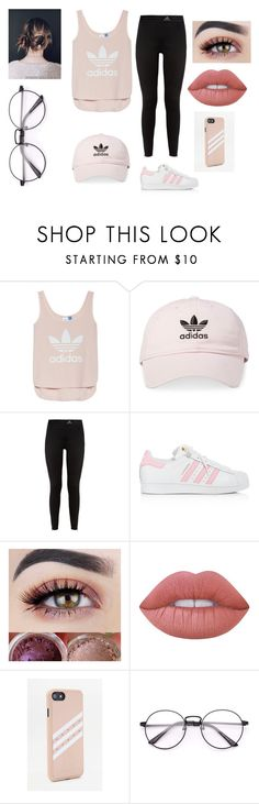 """Adidas Head to Toe"" by albajaria23 ❤ liked on Polyvore featuring adidas and Lime Crime"