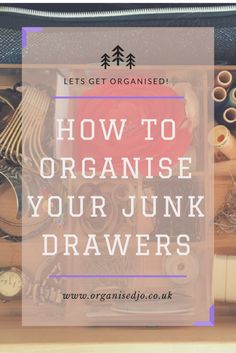 If you are like me there is more than one junk drawer in the house. Take a look at this to see how I have organised other drawers in my house.