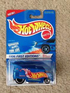 1996 Hot Wheels #372 First 1st Edition (#6 of 12 Models) VOLKSWAGEN VW DRAG BUS